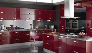 red and black kitchen cabinets design of your house With red and black kitchen designs