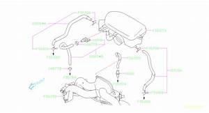2009 Subaru Forester Hose Pcv A  Control  Emission