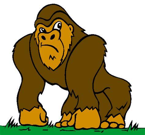 Desenho de Gorila pintado e colorido por Usuário não