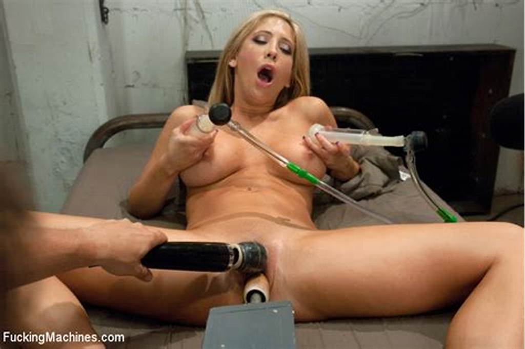 #Large #Cunts #Blonde #Banged #Machine #In #The #Pussy