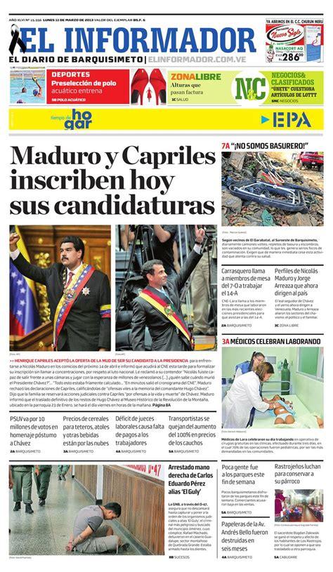 En una acción junta y coordinada , miembros del cuerpo especializado en segu…. El Informador2013.03.11 by El Informador - Diario online Venezolano - Issuu