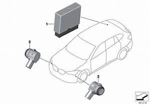 2018 Bmw X1 Ultrasonic Sensor  Sparkling Brown  Wb53  Parking