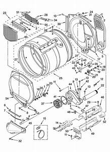 Kenmore Elite 11087872601 Dryer Parts
