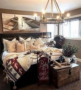 Amazing, Rustic, Lake, House, Bedroom, Decoration, Ideas, 01