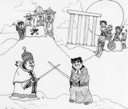 Konfrontācija Romas pāvesta varas un autoritātes jautājumā - e - BAZNĪCA