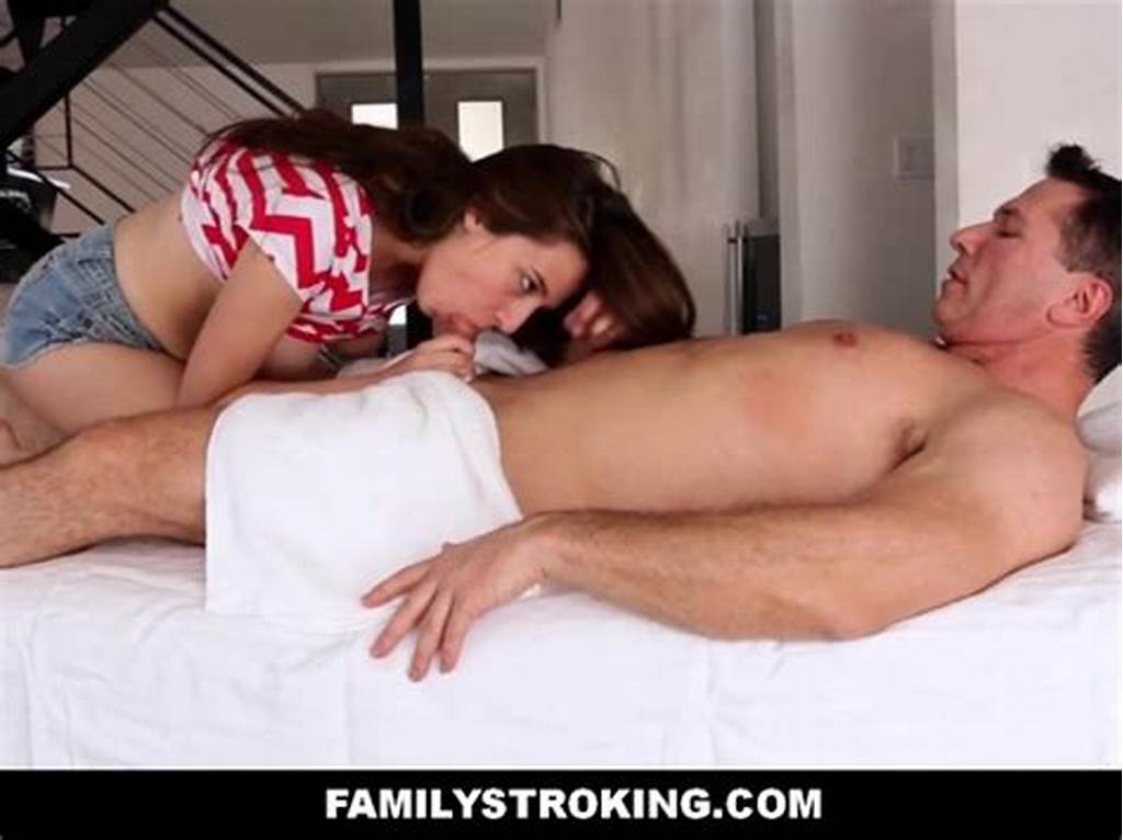 #Step #Daughter #Seduces #Her #Dad #During #Massage