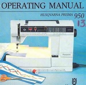 Viking 950 Prisma Sewing Machine Instruction Manual In