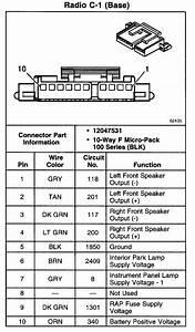 2002 Avalanche Radio Wiring Schematic