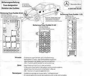 2002 Mercede C320 Fuse Diagram