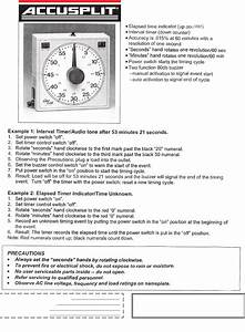 Accusplit Watch 165 User Guide