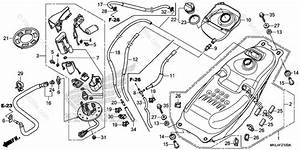 Honda Motorcycle 2018 Oem Parts Diagram For Fuel Tank