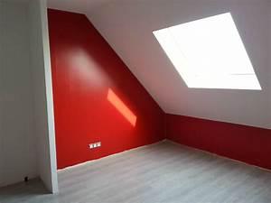 chambre mur rouge et gris amazing home ideas With couleur de mur de chambre