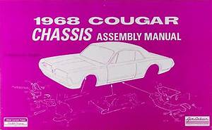 1968 Mercury Cougar And Xr7 Wiring Diagram Original