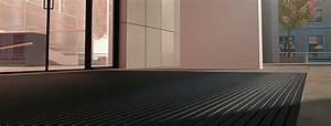 tapis d39entree sur mesure encastrable et paillasson exterieur With tapis de sol pour hall d entrée