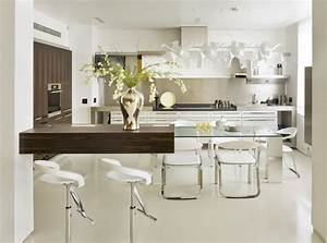 Interesting glass kitchen table ideas as combination of for Modern glass kitchen table