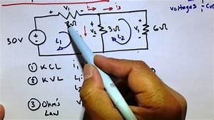 Kvl Kcl Ohm U0026 39 S Law Circuit Practice Problem