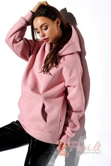 Džemperis su gobtuvu Kaidė (rožinis) - Popi.lt