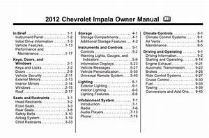 2012 Chevrolet Impala Owner U2019s Manual