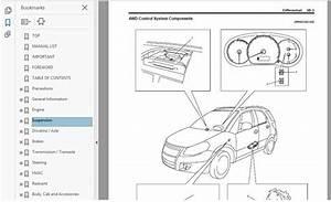Suzuki Sx4 2006  2014 Workshop Manual Workshop Manual