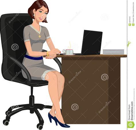 amour au bureau femme coffee working at desk clipart clipart suggest
