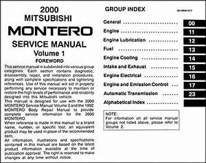 2000 Mitsubishi Montero Repair Shop Manual Set Original
