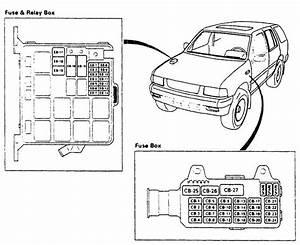 1996 Isuzu Wizard Fuse Box