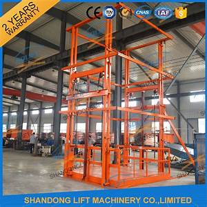 5t 6m Warehouse Hydraulic Guide Rail Freight Lift Elevator