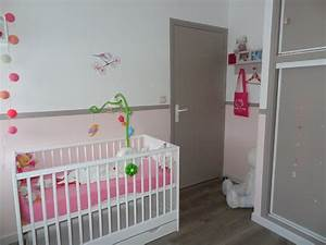 awesome decoration chambre bebe fille gris et rose 2 With photo de chambre fille