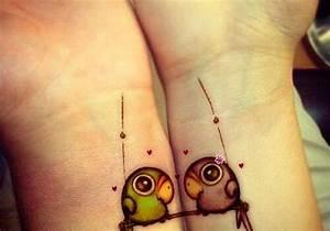 Tatouage Couple Original : tatouage couple oiseau 15 id es de tatouages faire ~ Melissatoandfro.com Idées de Décoration