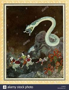 Edmund Dulac (1882-1953) illustration from 'Sinbad the ...