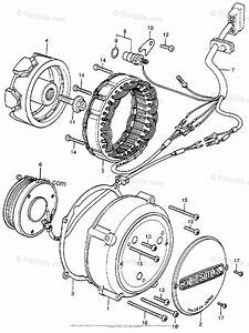 Honda Motorcycle 1976 Oem Parts Diagram For Alternator