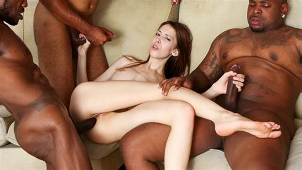#Pale #Skinny #Slut #Is #Surrounded #By #Massive #Black #Rods