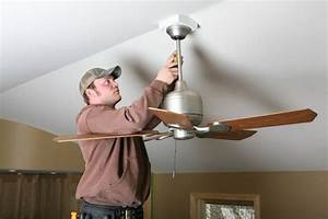 How To Install A Ceiling Fan In A Location Without
