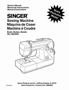 Kenmore 384 18024000 Sewing Machine Instruction Manual
