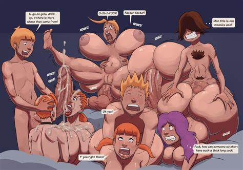 Famous Cartoons Ass Orgy Parody
