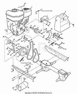 Troy Bilt 12210 6 5 Hp Super Bronco Parts Diagram For