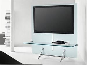 Table Tv Design : cool minimalist glass tv stand with shelf of cool tv stands designs ideas that inspire for ~ Teatrodelosmanantiales.com Idées de Décoration